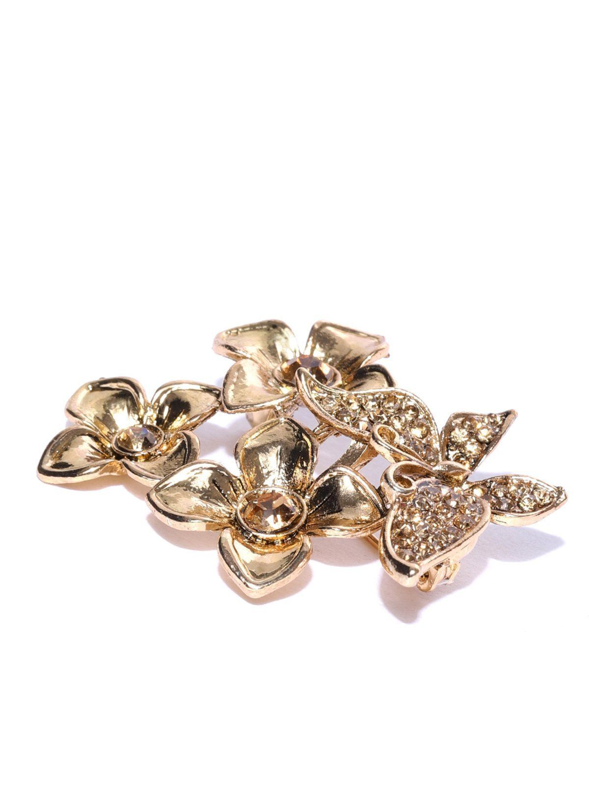 Zaveri pearls shimmering austrian diamonds studded floral