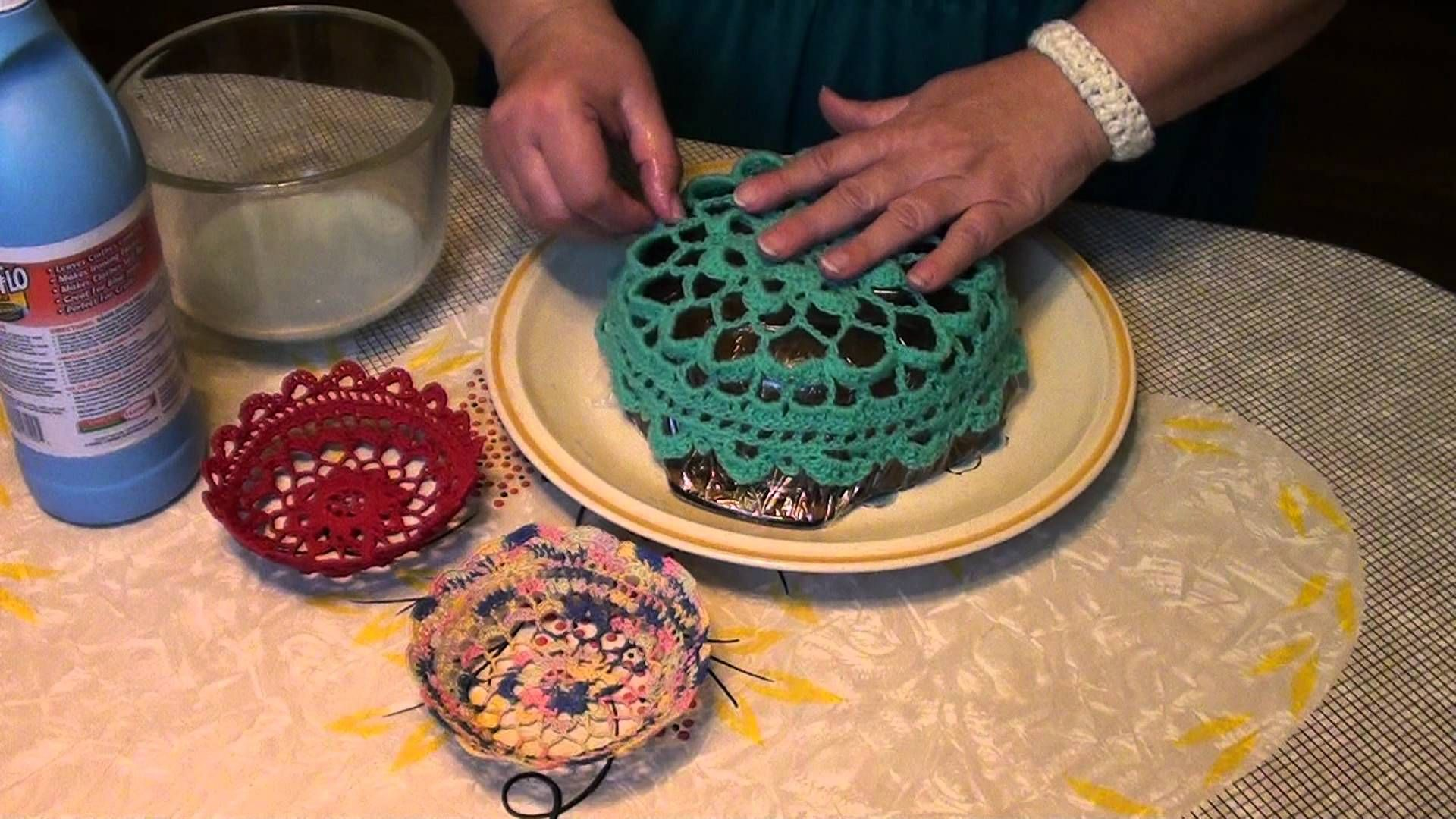 Starching a Crochet Bowl with Danita Cronin