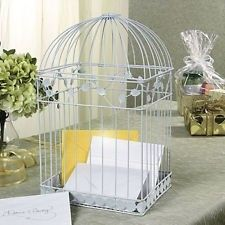 White Metal Birdcage Wedding Card Holder Beautiful Wedding Reception Addition | eBay