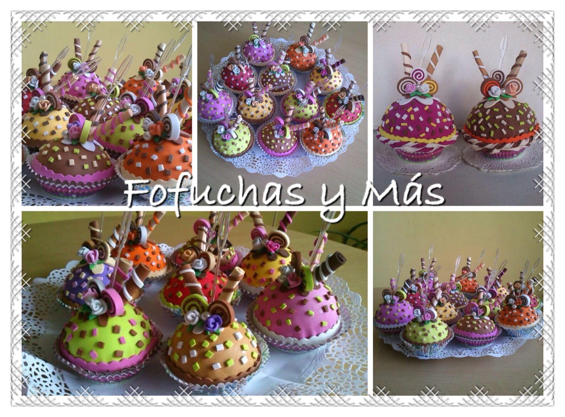 Cupcakes realizados en goma eva detalles para regalar en - Detalles goma eva ...