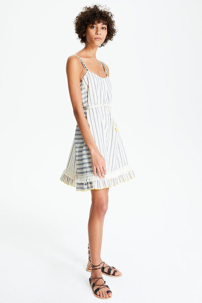 1de875720e Ami Fringe Mini Dress | Resort | 2018 | Dresses, Lemlem, Summer dresses