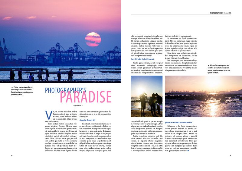 1 page magazine article layout google search graphic design