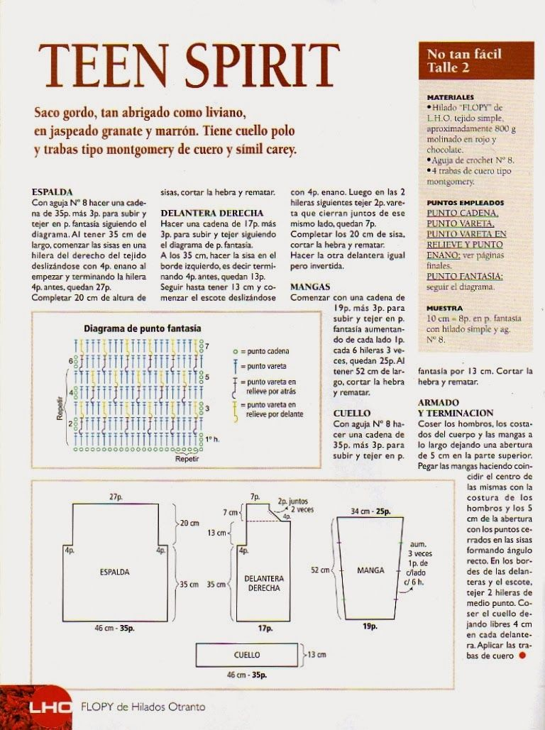 Chaleco Cadenetas de Crochet Instrucciones - Patrones Crochet ...