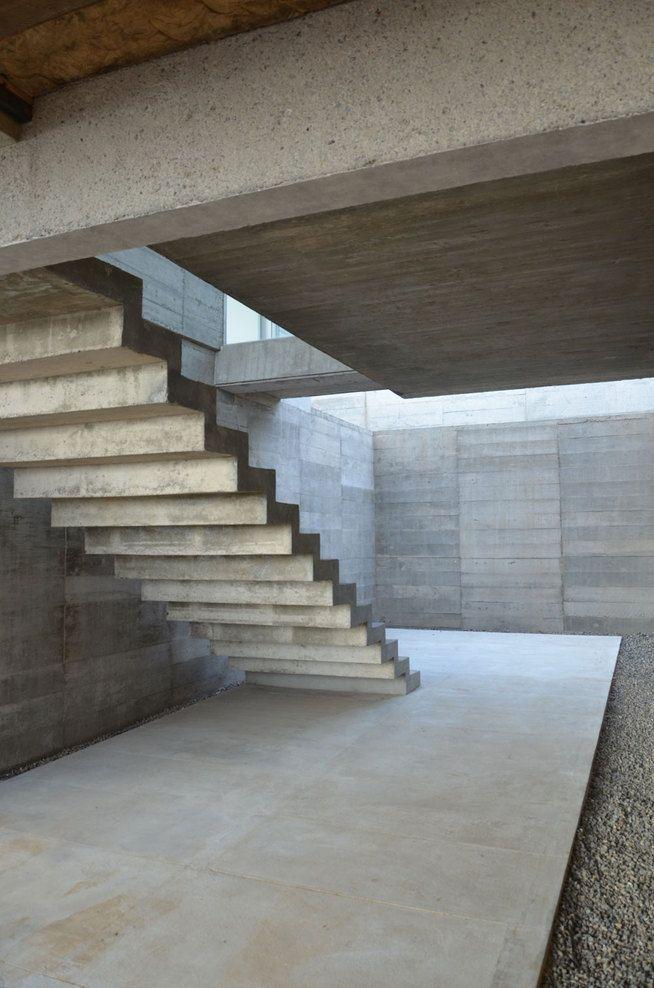 Escaliers en béton - Concrete stairs idées Pinterest Escalier