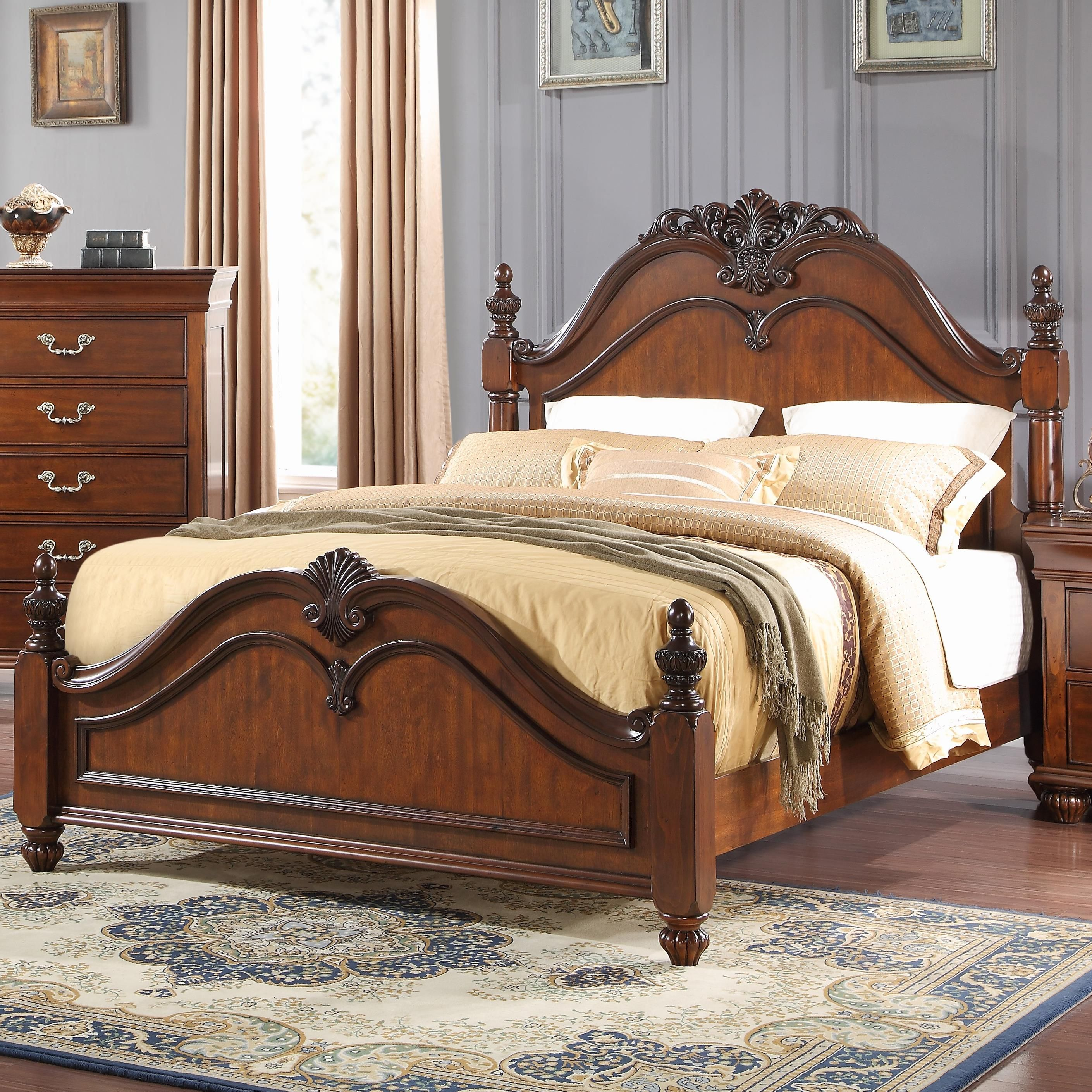 The Jaquelyn Twin Poster Bed With Carved Details By New Classic At Royal Furniture In The Memphis Jackson Tennessee Southaven Furniture Bed Design Panel Bed