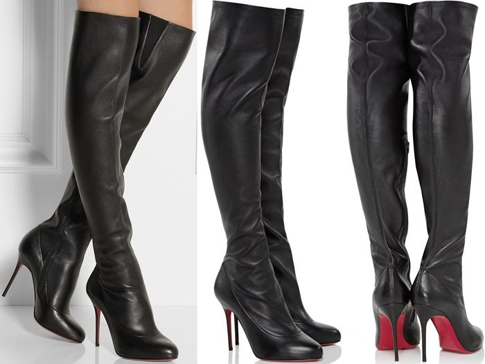 8652b7ec878 Sempre Monica 100 Leather Over-the-Knee Boots | Christian Louboutin ...