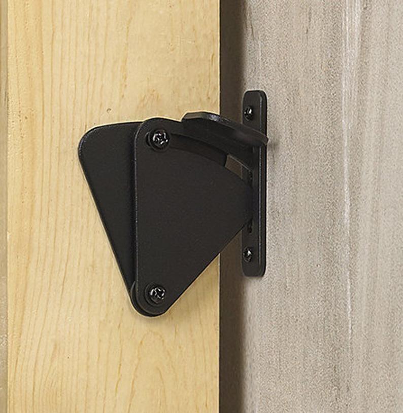 Black Sliding Barn Door Latch For Privacy Teardrop Design Matte Black Hardware Kit Locking Solution For Bathroom And Bedroom Doors In 2020 Barn Door Latch Making Barn Doors Barn Door Locks