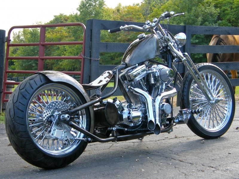 200mm Dropseat Clear Coat Bare Metal Bobber Harley Bikes Bobber Bikes