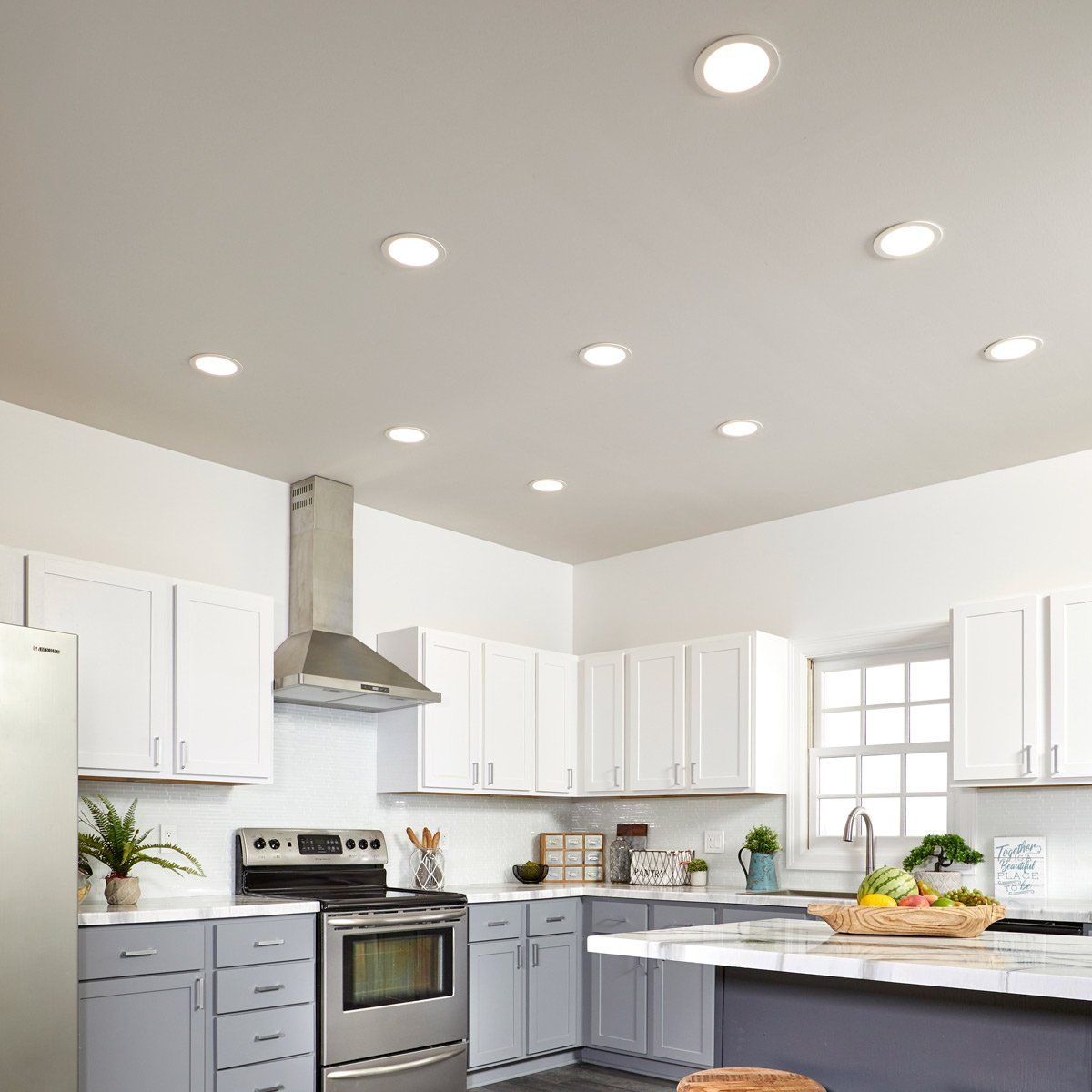How To Install Low Profile Led Lights In Your Kitchen Kitchen Ceiling Lights Can Lights In Kitchen Kitchen Ceiling
