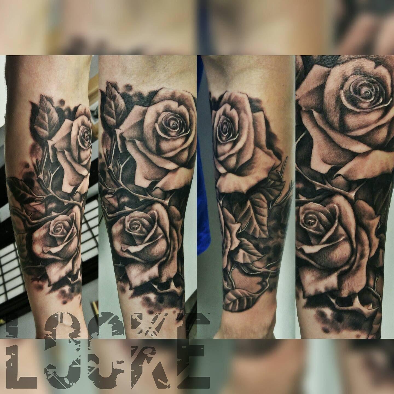 Gray Wash Roses By Andy Locke With Eternalink Custom Design Grey Wash Rose