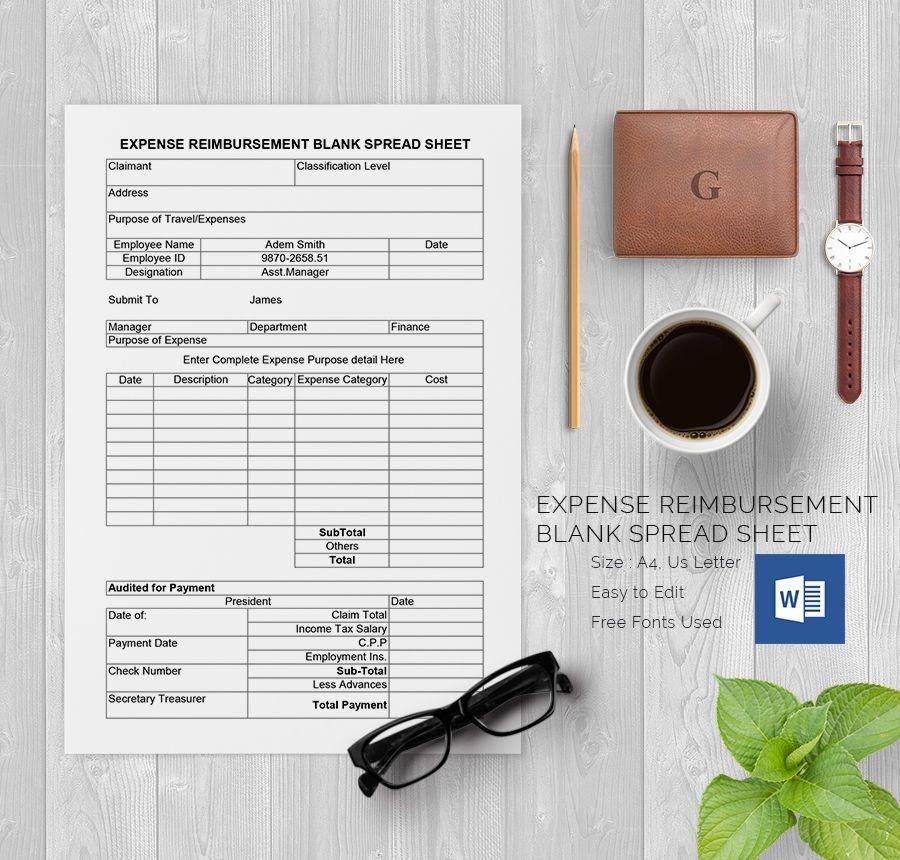 Blank Spreadsheet Template bill Pinterest Template and Pdf