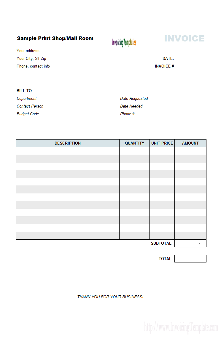 architect invoicing sample print shop billing format invoice – Ticket Order Form Template