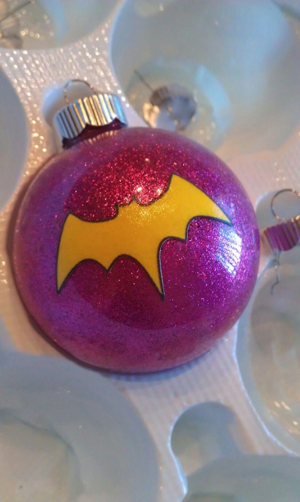 Glitter Batgirl Ornament Superhero Christmas Esferas Navidenas Adornos De Navidad Arboles De Navidad Creativos
