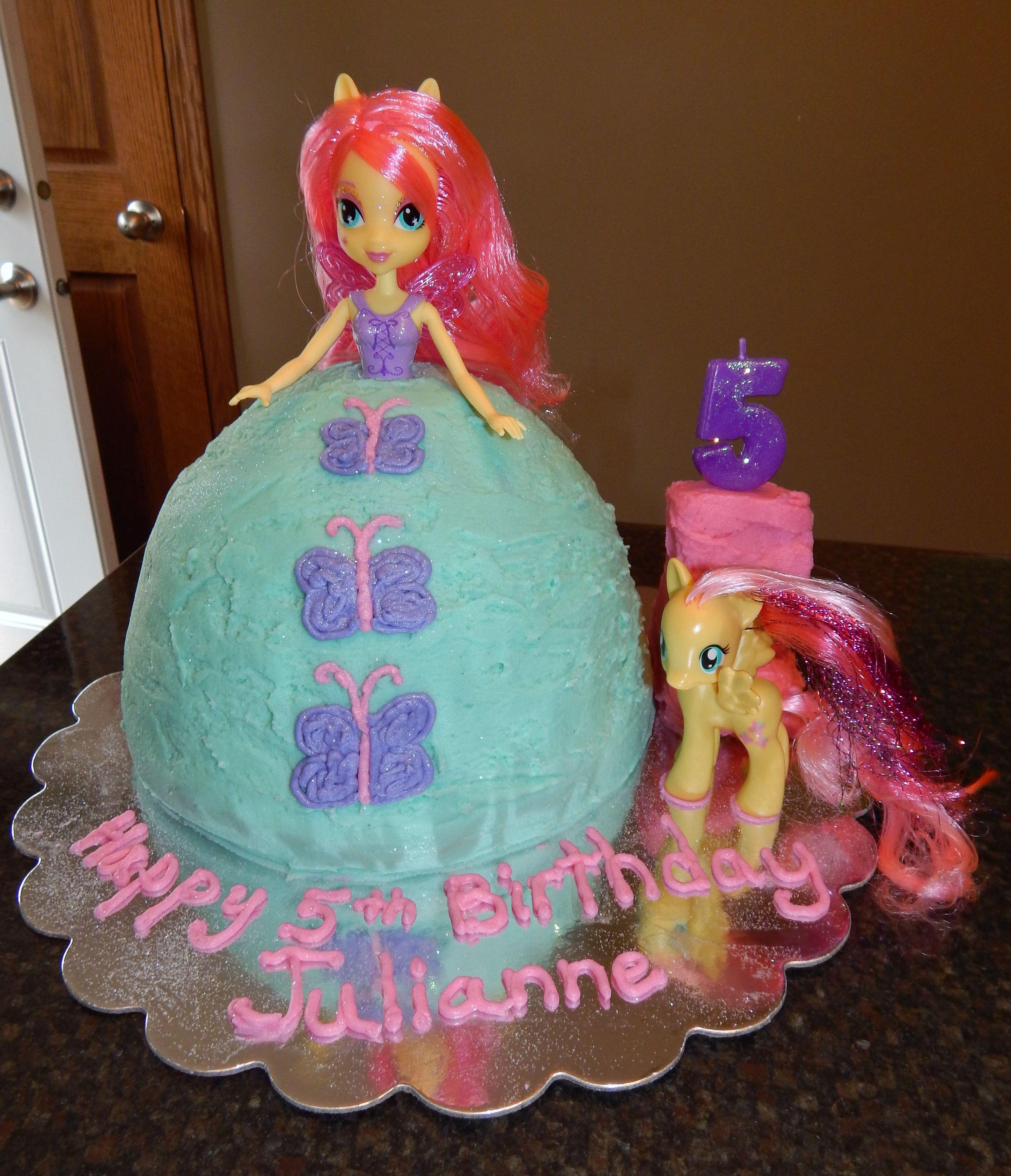 Fluttershy Equestria Girl Cake My Cakes Pinterest Girl cakes