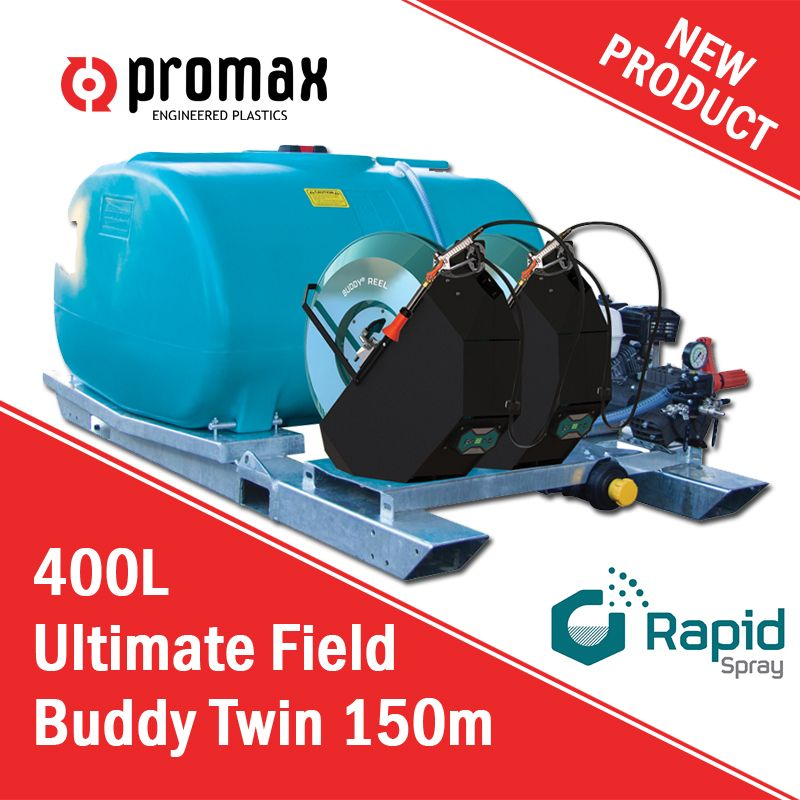 The 400L Ultimate Field Buddy Twin 150m offers superior performance, ease of use and utmost reliability! Double your productivity with this ultimate spray equipment now!  Visit: https://www.promaxplastics.co.nz/products/spray-equipment/400l-ultimate-field-buddy-twin-150m Call our toll-free number: 0800 77 66 29 Or email us at: sales@promaxplastics.co.nz  #promaxplastics #promaxplasticsnz #sprayequipment #atvsprayers #utvsprayers #fieldsprayer #grasssprayers #spotsprayer #sprayer…