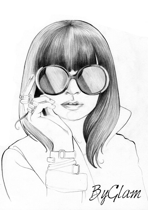 Dessin de fille cute pinterest - Dessin de fille de mode ...