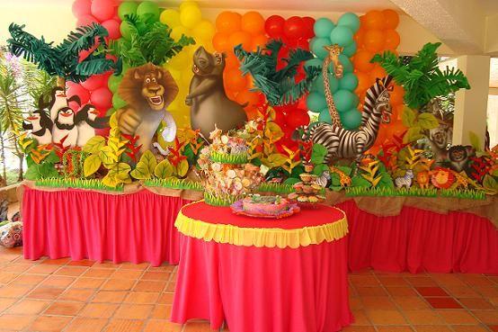 Madagascar Decoración Cumpleaños Imagui En 2019