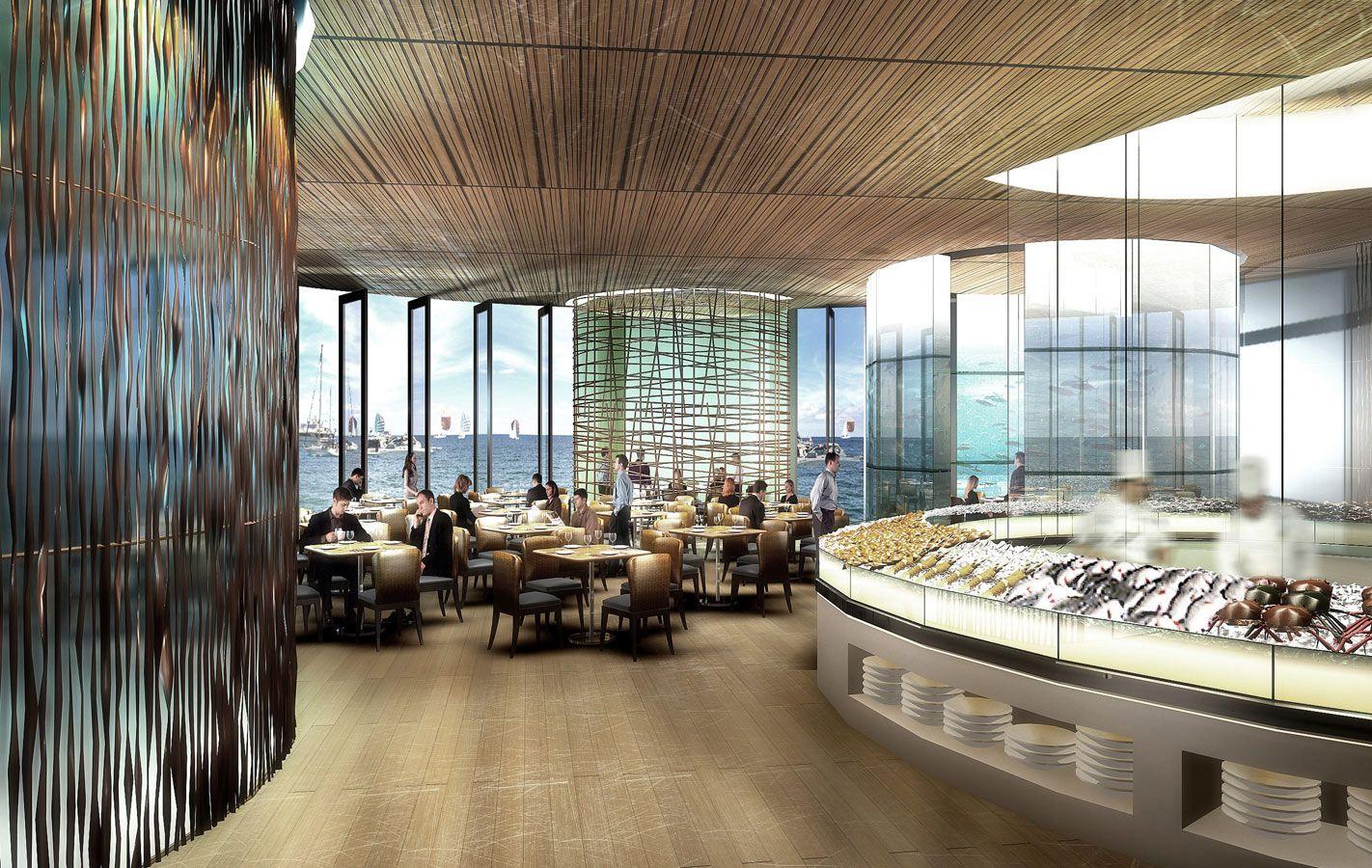 Fish market restaurant design ceiling pinterest