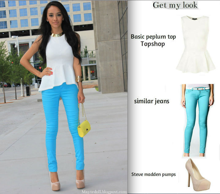 turquoise skinny jeans outfit - Google Search | Fashion ...