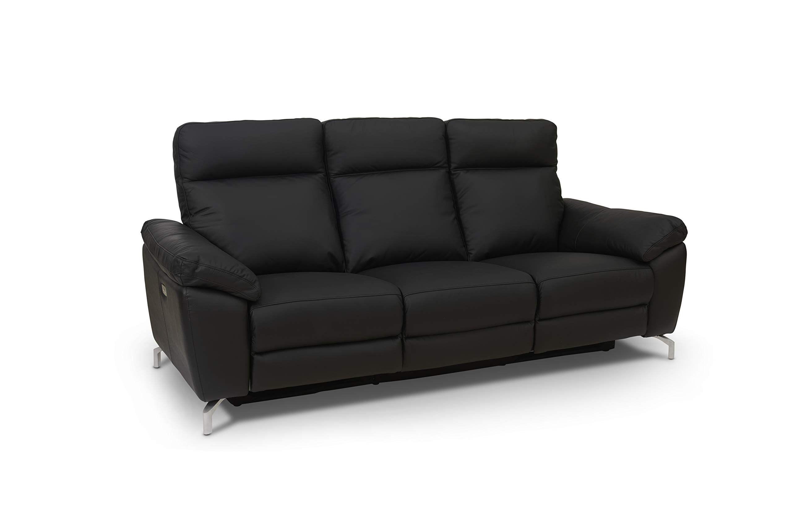 Ibbe Design Schwarz Echt Leder 3 Sitzer Relaxsofa Elektrisch Relaxfunktion Sofa Liegefunktion Doha Mit Fussteil 222x96x101 Cm In 2020 With Images Sofa Couch Furniture