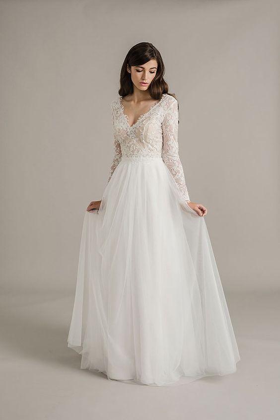 2a2a07e679 30 szykownych sukni ślubnych z długimi rękawami