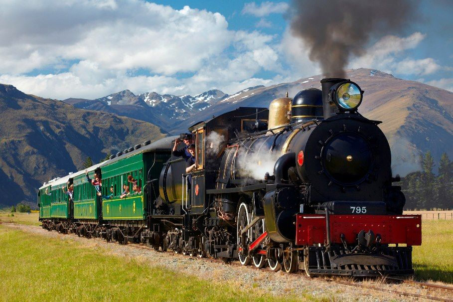 The Kingston Flyer Steam Train, Queenstown, New Zealand