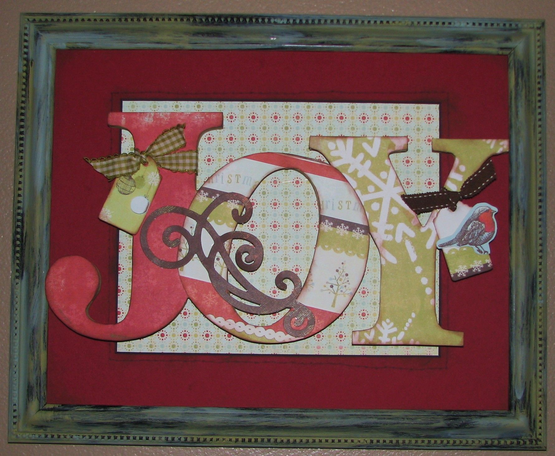 Deck The Halls With This Simple Joy Frame Frame Cardmaking Christmas Crafts