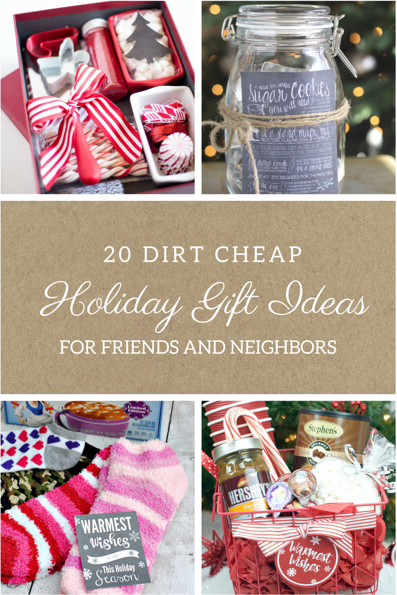 20 Dirt Cheap Gifts for Friends and Neighbors | Frugal christmas ...