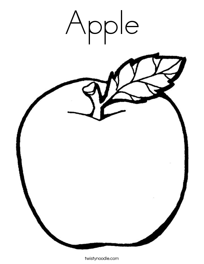 apple coloring page - Pictures Coloring