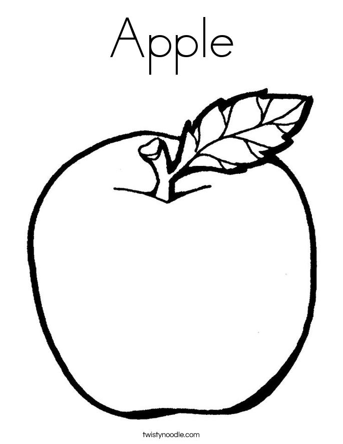 Apple Coloring Page Apple Coloring Pages Apple Coloring Fruit Coloring Pages