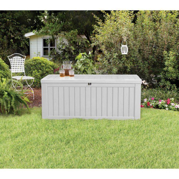 Sam S Club Rockwood 150 Gallon Outdoor Storage Deck Box White