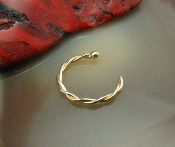 Hey, I found this really awesome Etsy listing at http://www.etsy.com/listing/159760342/half-nose-hoop-nose-jewelry-516-79mm