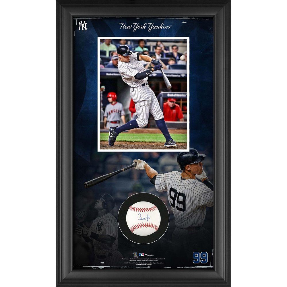 72b396d3782 Aaron Judge New York Yankees Framed Autographed Baseball Collage Shadowbox   sportsmemorabilia  autograph  baseball