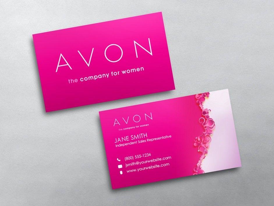 Avon Business Ca Unique Avon Business Card Template Printing Business Cards Free Business Cards Marketing Business Card