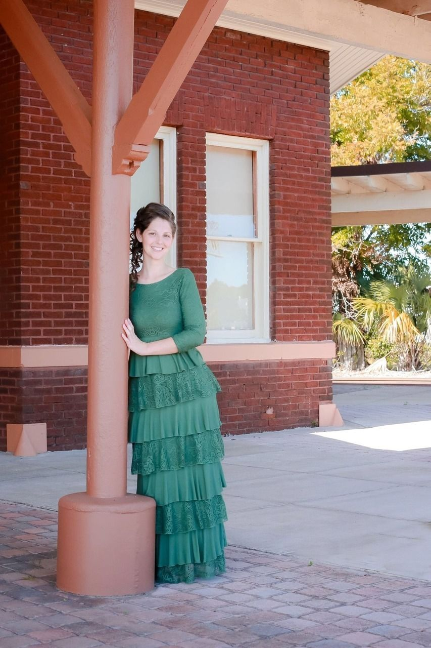 a678247077aa Modest Fashion   www.daintyjewells.com   Dreaming in Vintange (olive)   Dainty  Jewell's Modest Apparel: Weddings Bridesmaid Dresses Ruffles Lace Stripes  ...