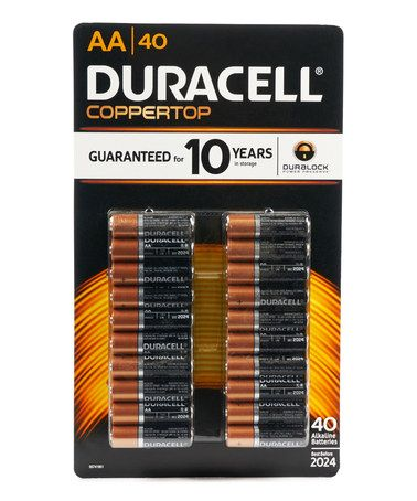 This Duracell Aa Battery 40 Ct Pack Is Perfect Zulilyfinds Duracell Duracell Batteries Batteries