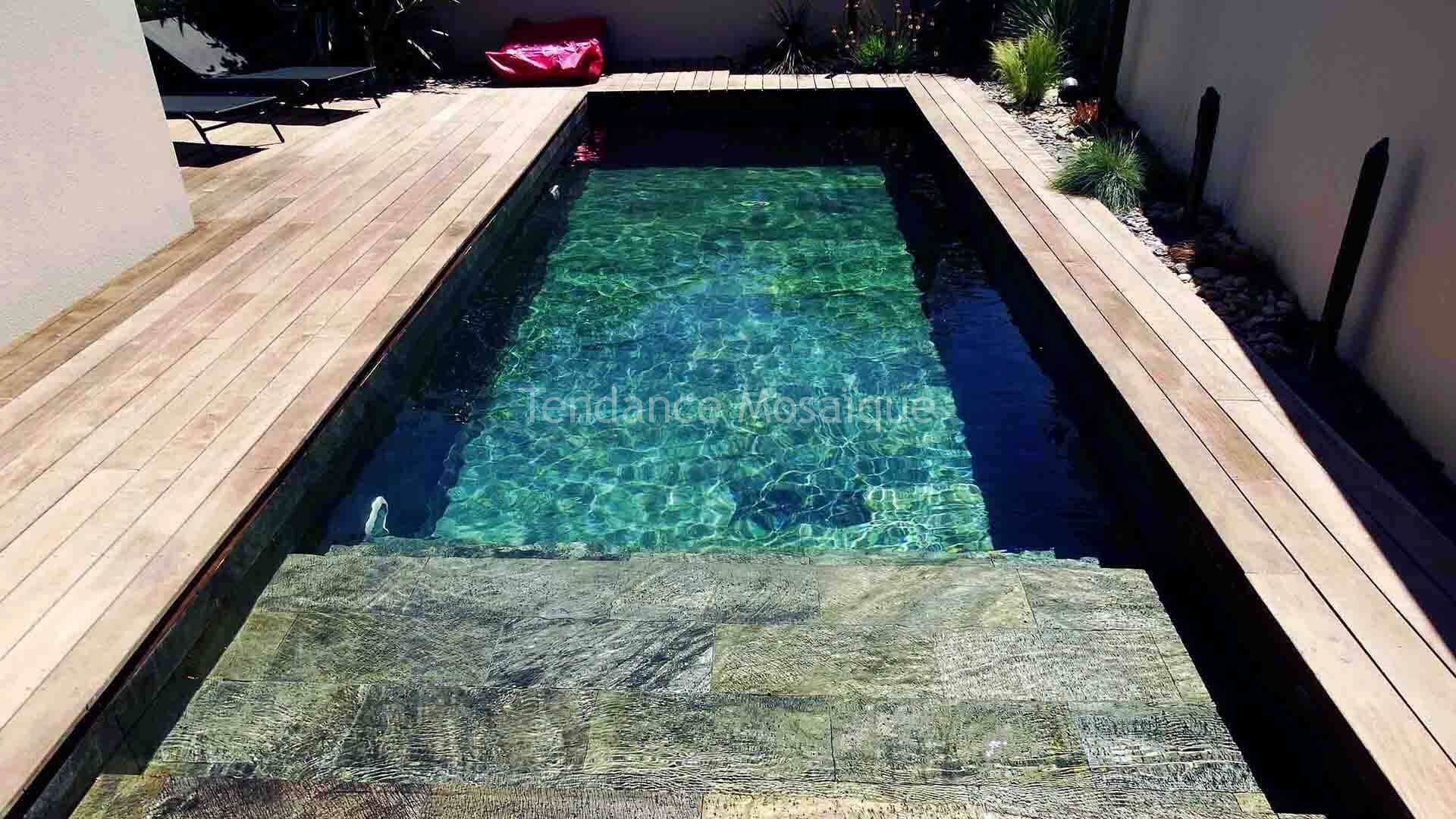 Piscine En Pierre Naturelle Quartzite Reference Silver Dream