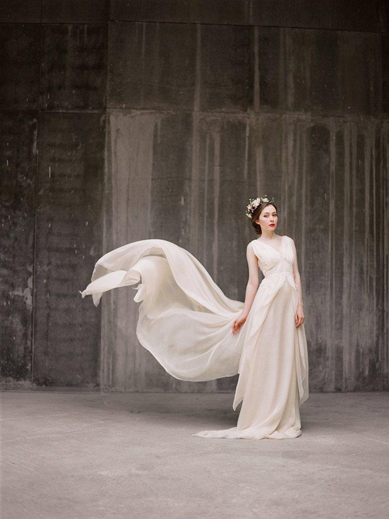 Flowy Chiffon Wedding Dress | Pinterest