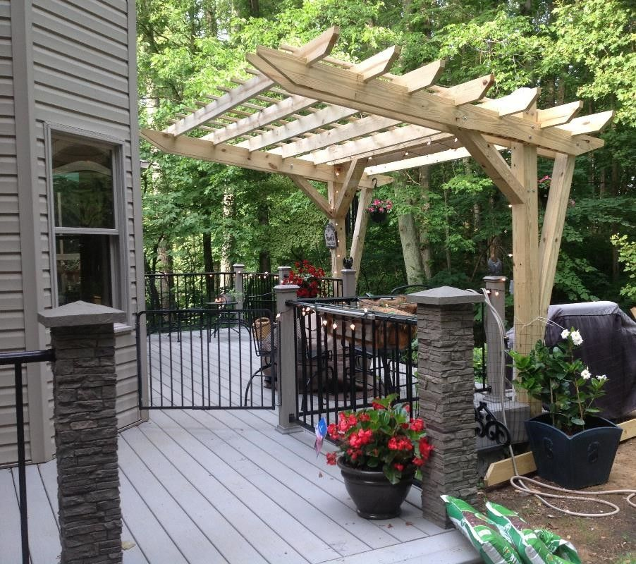 Our 4 Favorite Patio Pergola And Deck Lighting Design Tips: Cantilevered Pergola That My Husband Designed And Built