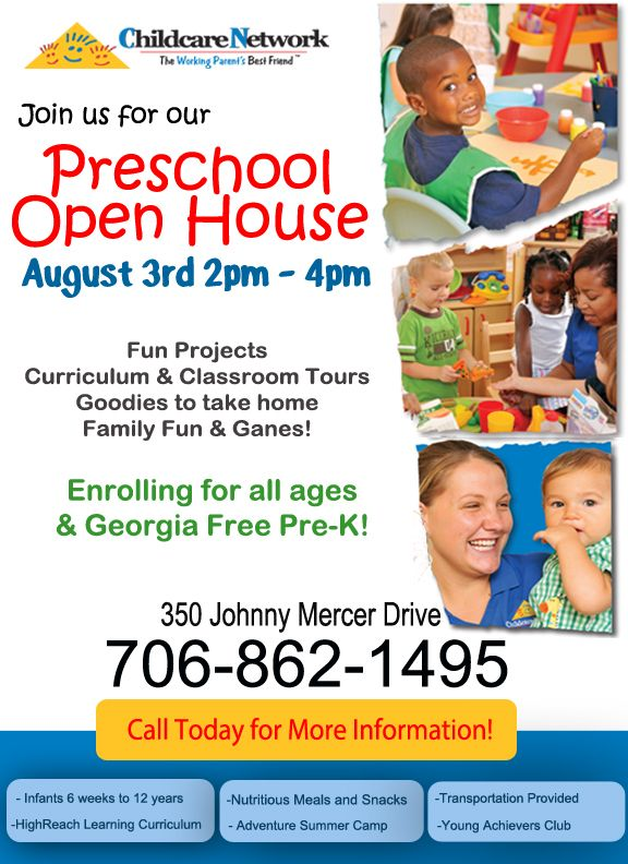 Childcare Network on Johnny Mercer Drive on Wilmington Is in - daycare flyer template