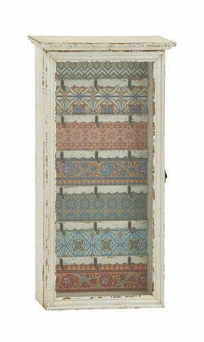 Decorative Key Box For The Wall Cool Shabby White Green Blue Orange Boho Key Cabinet Cottage Decor Design Inspiration