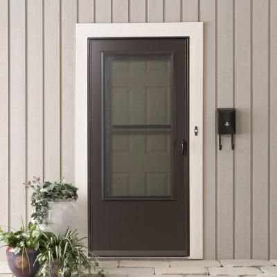 Ordinaire 200 Series Bronze Triple Track Storm Door E2TT 36BZ   The Home Depot