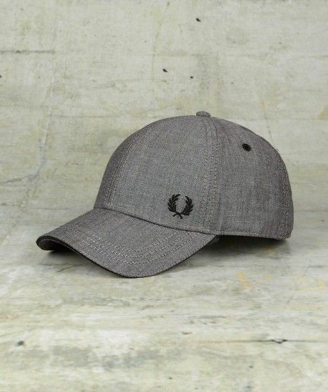 fred perry chambray constructed baseball cap wear it. Black Bedroom Furniture Sets. Home Design Ideas