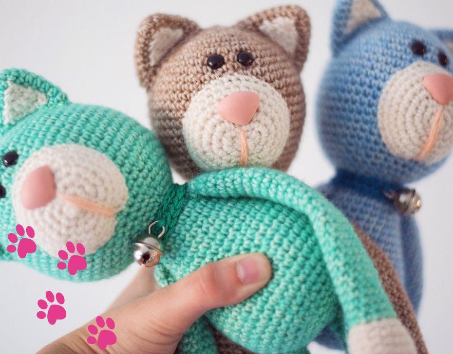 Kuscheltiere häkeln – Miau kleine Miezekatze | Stricken/Häkeln ...