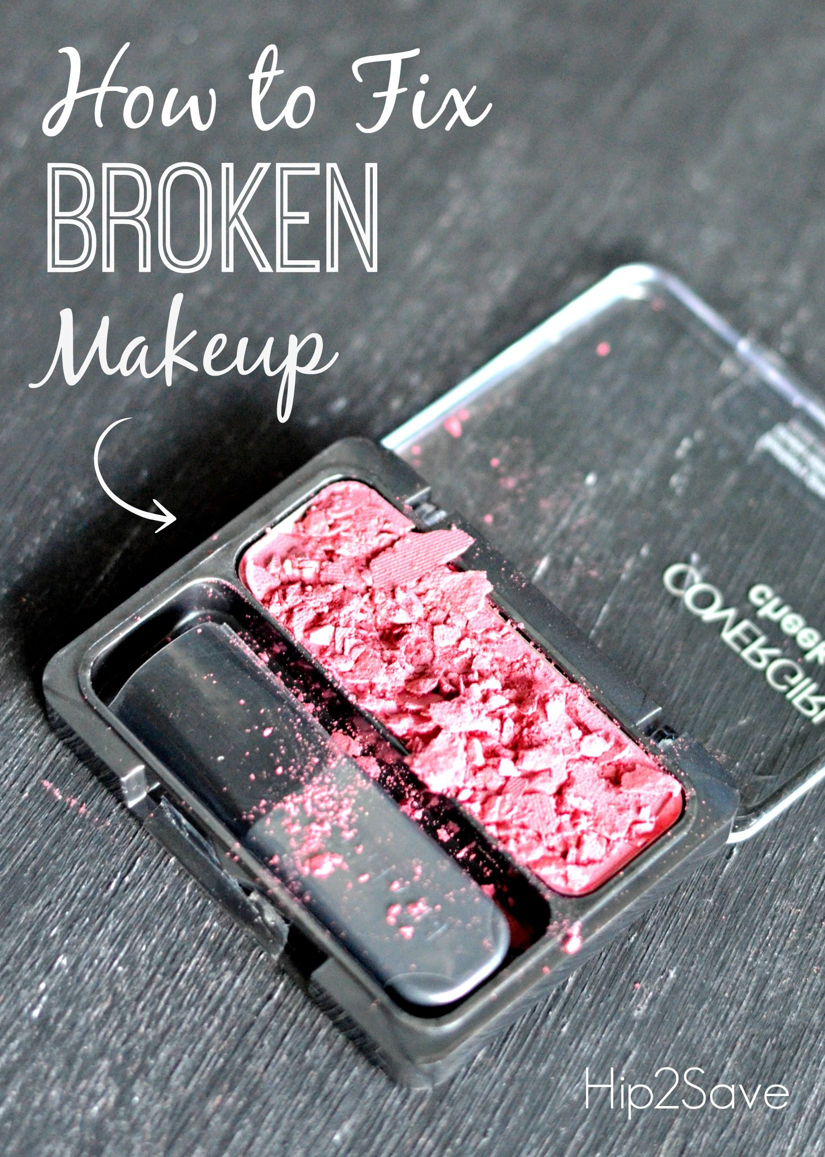 How to fix broken powder makeup with alcohol in four simple steps - How To Fix Broken Powder Makeup