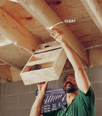 Rafter Storage Idea For The Tiny House Workshop Storage Understairs Storage Storage Solutions