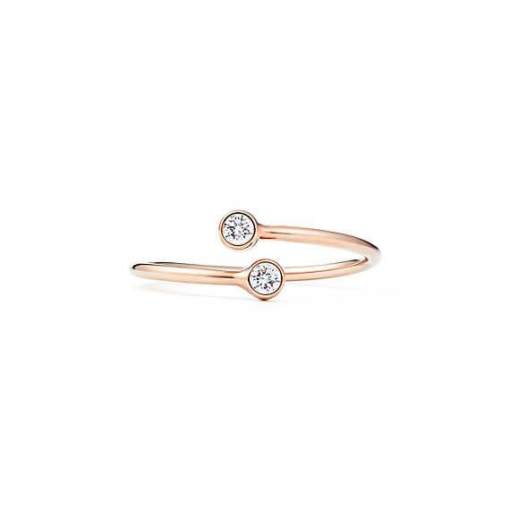 b32ee05e6 Elsa Peretti® Diamond Hoop ring in 18k rose gold with diamonds. | Tiffany &  Co.