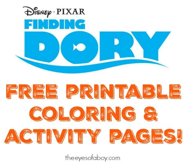 free printable finding dory coloring pages and activity pages for - new pixar coloring pages finding nemo