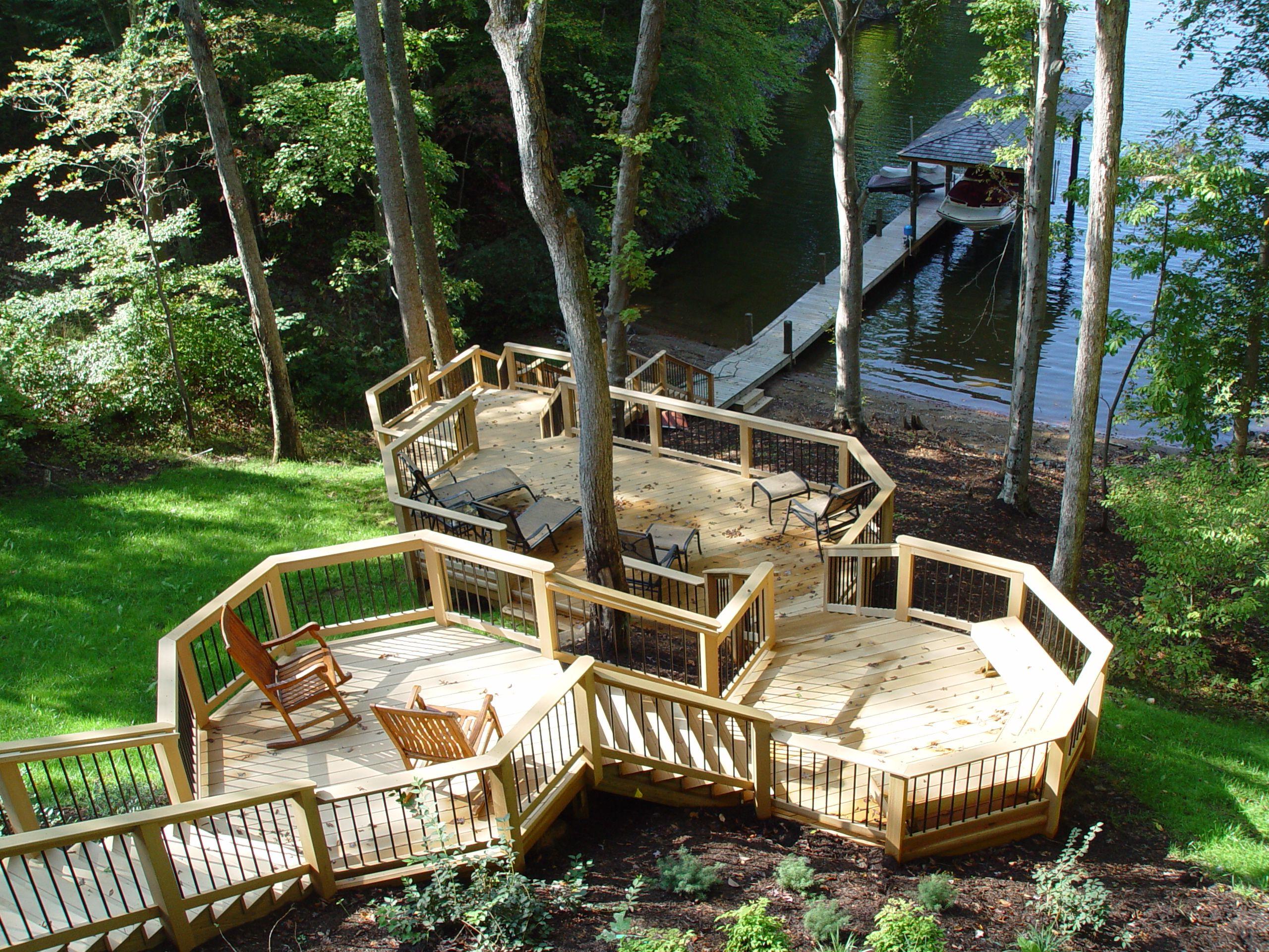 Multilevel Lakeside Deck - Design Ideas - Archadeck ...