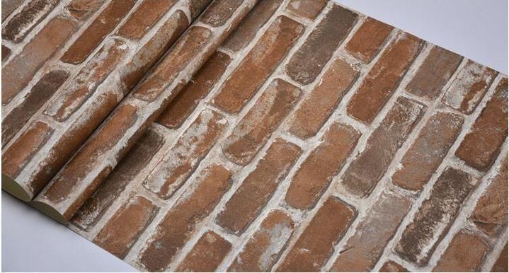 Rustic brick photo wallpaper Tavoli